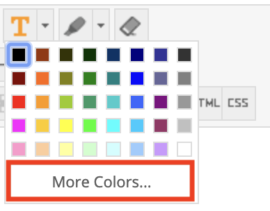 Click the More Colors button