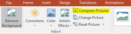Powerpoint Compress Pictures function