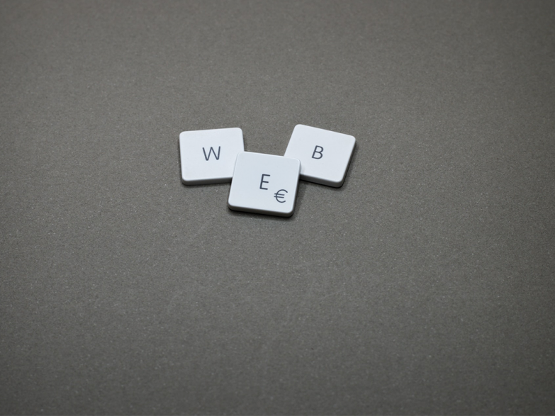 Image of tiles spelling the word web