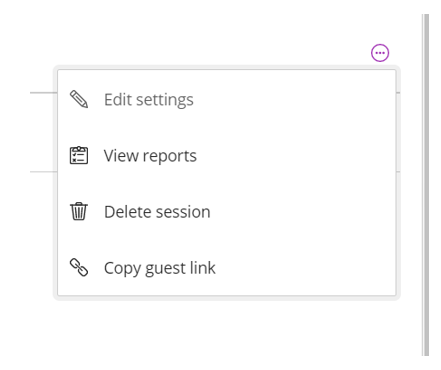 Image of Collaborate Session sub-menu
