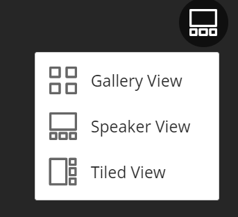 Collaborate view menu